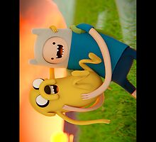 Adventure Time - Jake and Finn by Pawsona