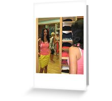 Lily In The Mirror Greeting Card