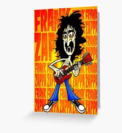 Frank Zappa Caricature Greeting Card