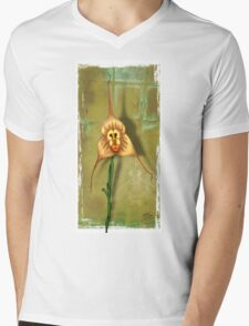 Monkey Face Orchid Mens V-Neck T-Shirt