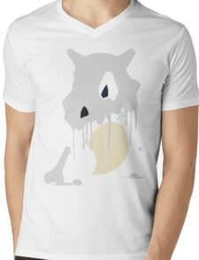 Cubone Paint Splatter  Mens V-Neck T-Shirt