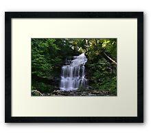 Hot August Relief Below Ganoga Falls Framed Print