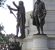 George Mason and Patrick Henry At Capitol Square by Arteffecting
