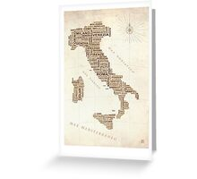 Italia Greeting Card