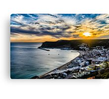 Sunset at the Portuguese Coast Canvas Print