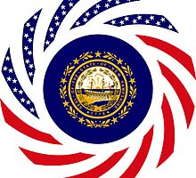New Hampshire Murican Patriot Flag Series by Carbon-Fibre Media