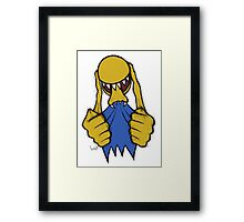 Alien Pac Man Framed Print