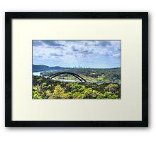 Pennybacker Bridge HDR Framed Print