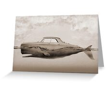 the Buick of the sea - sepia Greeting Card