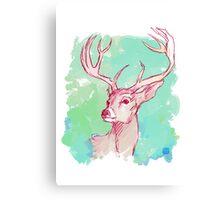 Colorful Dear Canvas Print