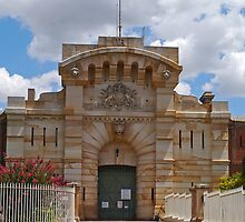 Bathurst Gaol Entrance, New South Wales, Australia by Margaret  Hyde