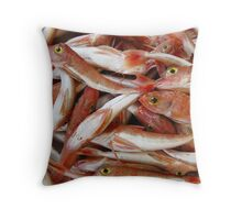 Red Fish with Yellow Eyes Throw Pillow