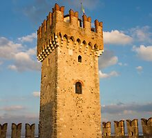 The Tower of Scaliger Fortress in Sirmione by kirilart
