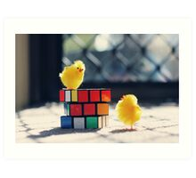 Toy Chickens - Puzzle Art Print