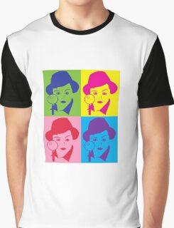Murder, She Wrote Sticker Graphic T-Shirt
