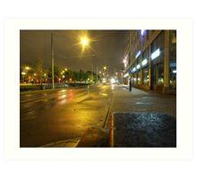 Gothenburg by night - Tram Art Print