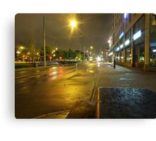 Gothenburg by night - Tram Canvas Print