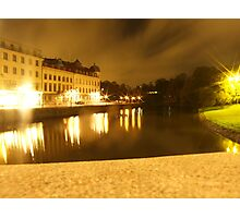 Gothenburg by night - From avenyn Photographic Print