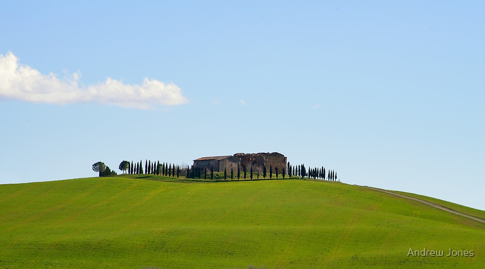 Abandoned hill-top farmhouse, Val D'Orcia, Tuscany by Andrew Jones