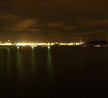 Gothenburg by night - Harbor by Madsen1981