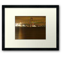 Gothenburg by night - The hisingen bridge Framed Print
