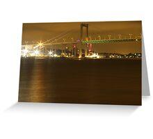 Gothenburg by night - The hisingen bridge Greeting Card