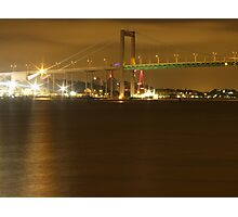 Gothenburg by night - The hisingen bridge Photographic Print