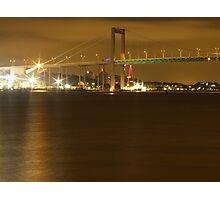 Gothenburg by night - The hisingen bridge Photographic Print