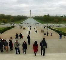 The Reflecting Pool - Washington Monument by Bine