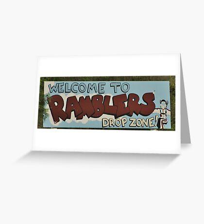 Parachuting Greeting Card