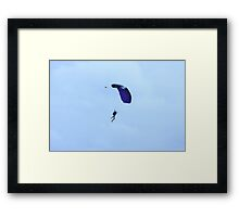 Parachuting Framed Print