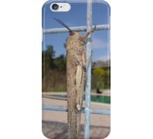 Locust On A Wire Fence iPhone Case/Skin