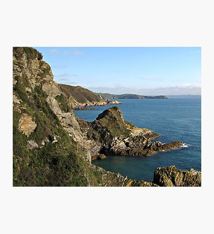 Cliffs in Cornwall near Mevagissey Photographic Print