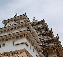 Castle at Himeji, Japan by jojobob