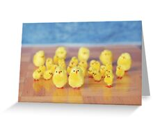 Toy Chickens - Horde Greeting Card