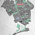Queens NY Map Typography by icoNYC
