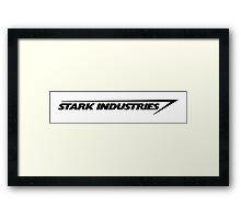Stark Industries : Black Framed Print