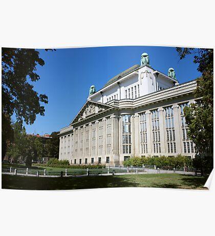 Croatian State Archive Building in Zagreb Poster