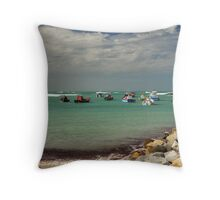 Harbor Cape Aghulas, Western Cape, S.A. Throw Pillow
