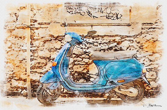 The Vespa by Stephen Knowles