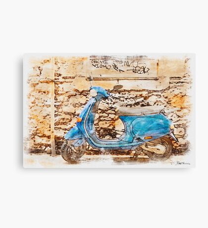 The Vespa Canvas Print