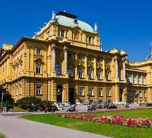 Croatian National Theatre in Zagreb by kirilart