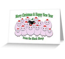 A whole lot of hogs & one Black Sheep in the mix Greeting Card