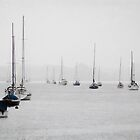 Yachts in the Storm by Anna Davies