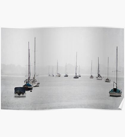 Yachts in the Storm Poster