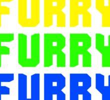 Rainbow Furry Pride Text Sticker