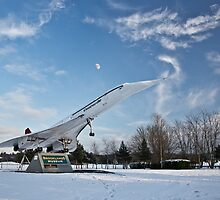 Concorde at Brooklands by Rachael Talibart