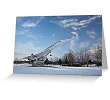 Concorde at Brooklands Greeting Card