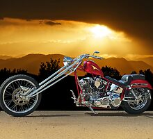 Red Chopper F by DaveKoontz