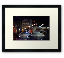 crosswalk at night Framed Print